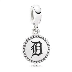 Detroit Tigers Charm Pandora Sterling Silver MLB